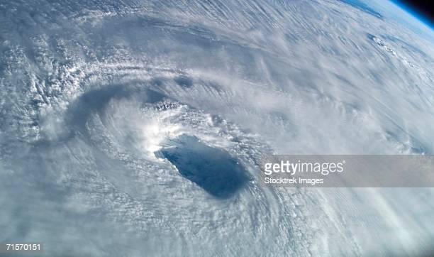 Close-up view of the eye of Hurricane Isabel
