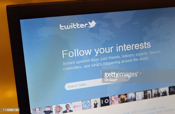 A closeup view of the homepage of the microblogging website Twitter on June 1 2011 in London England Anonymous Twitter users have recently claimed to...