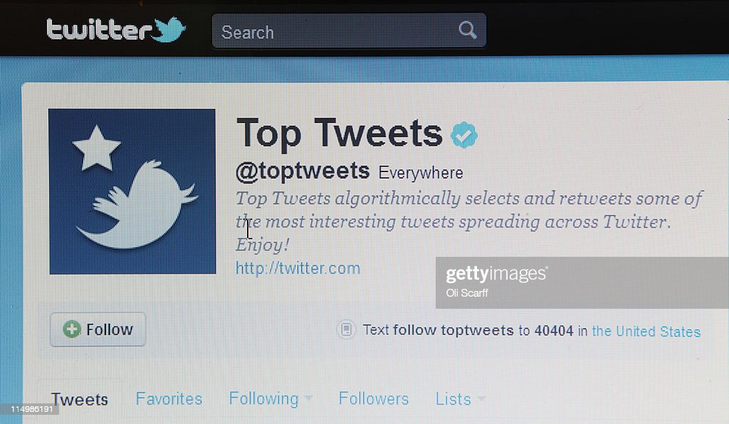 A close-up view of the homepage of the microblogging website Twitter on June 1, 2011 in London, England. Anonymous Twitter users have recently claimed to reveal the identity of numerous high-profile individuals who have taken out legal privacy injunctions.