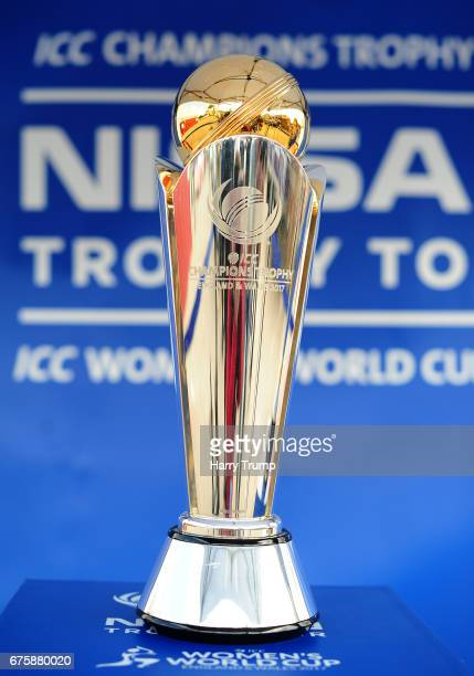 A closeup view of the ICC Champions Trophy ahead of the Royal London OneDay Cup match between Somerset and Kent at The Cooper Associates County...