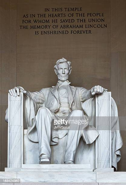 Close-up view of the Lincoln memorial