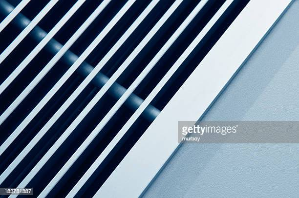 A close-up view of the vents of an air conditioner