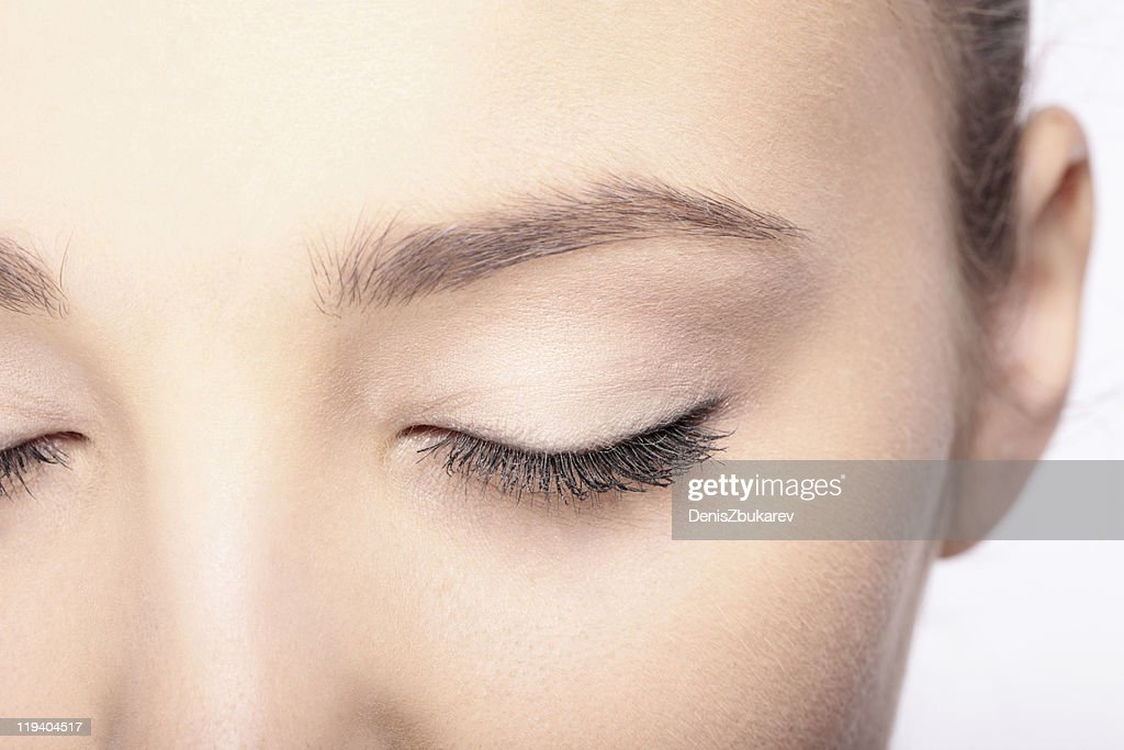 close-up woman's face