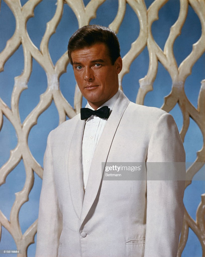 Closeups of actor <a gi-track='captionPersonalityLinkClicked' href=/galleries/search?phrase=Roger+Moore+-+Actor&family=editorial&specificpeople=160468 ng-click='$event.stopPropagation()'>Roger Moore</a>, currently starring in the television series The Saint.