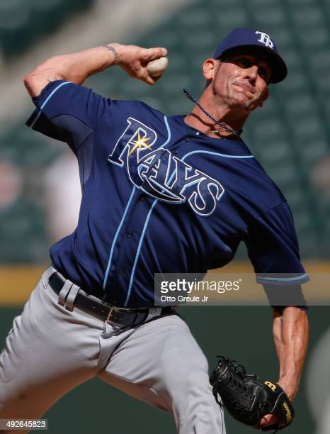 Closing pitcher Grant Balfour of the Tampa Bay Rays pitches against the Seattle Mariners at Safeco Field on May 14 2014 in Seattle Washington