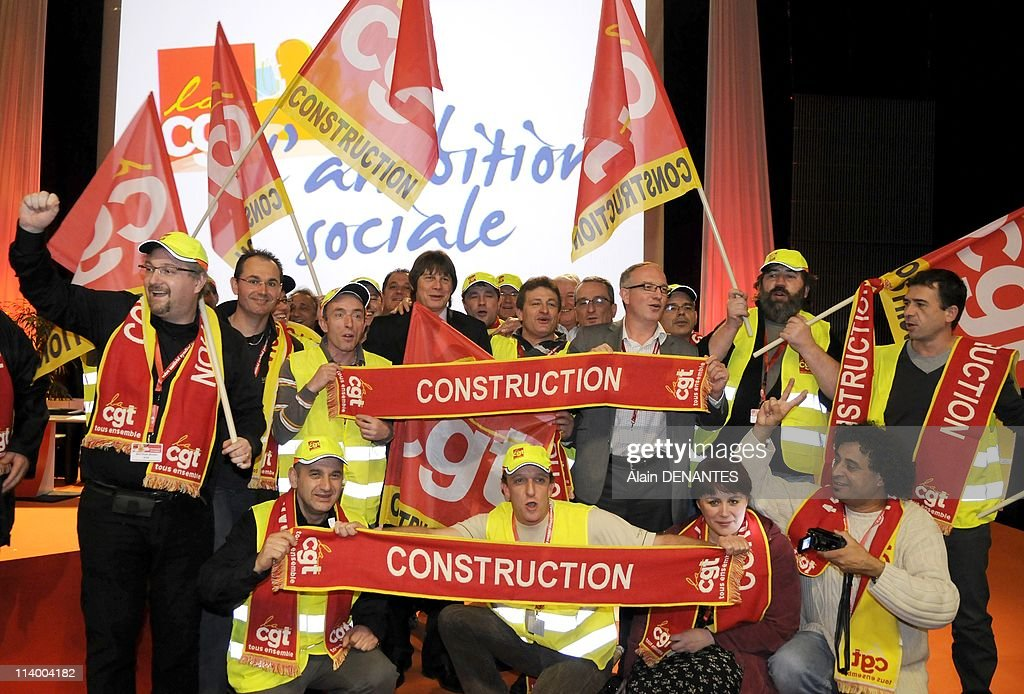 Closure of the national congress of the syndicate CGT in Nantes with the reelection of Bernard Thibault in charge of secretary general In Nantes...