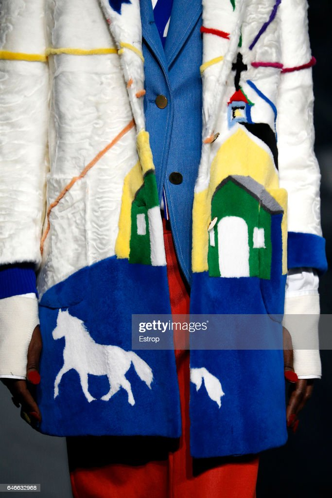 A Cloth detail at the Thom Browne show during the New York Fashion Week February 2017 collections on February 15, 2017 in New York City.