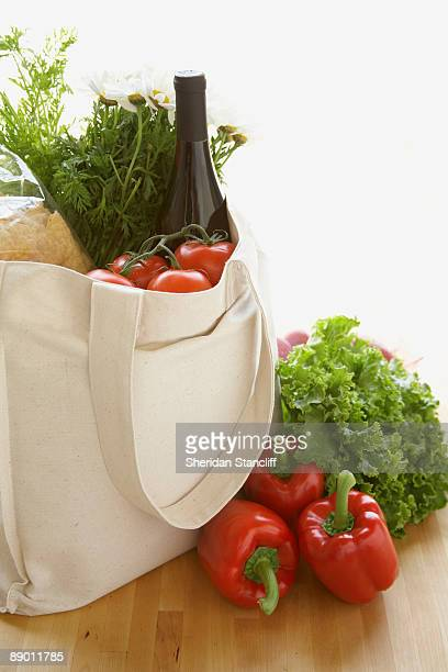 Cloth grocery bag and produce