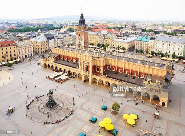 Lonja de los paños desde arriba, Cracovia, Polonia