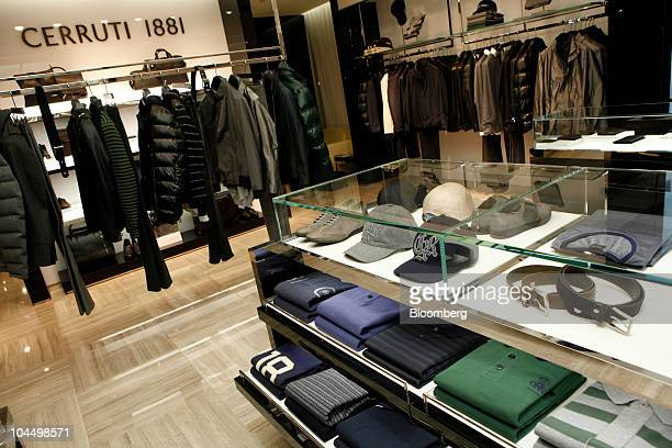 Clothes and accessories are displayed in a branch of Cerruti 1881 SAS in Hong Kong China on Monday Sept 27 2010 Cerruti 1881 SAS is an international...