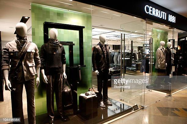Clothes and accessories are displayed in the window of a branch of Cerruti 1881 SAS in Hong Kong China on Monday Sept 27 2010 Cerruti 1881 SAS is an...