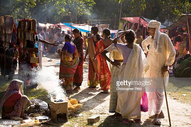 Clothes and goods bazar at the Sonepur fair, Bihar