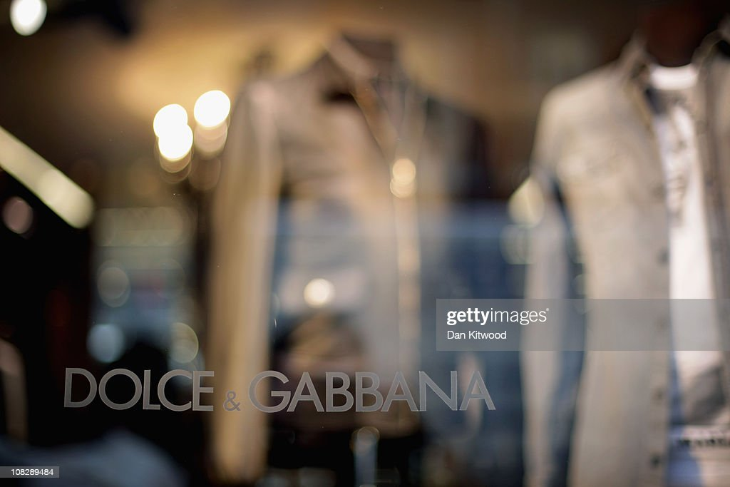 Clothes are displayed in the Dolce Gabbana store window on Bond Street on January 24 2011 in London England Despite the expected retail slump sales...