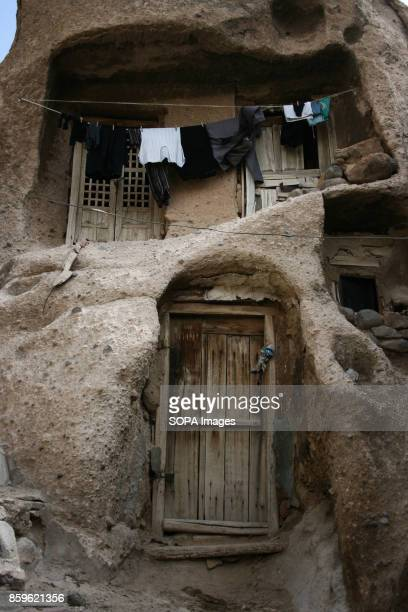 Clothes are drying up outside a local house The tiny village of Kandovan in the Iranian East Azerbaijan Province is known for its cliff dwellings not...