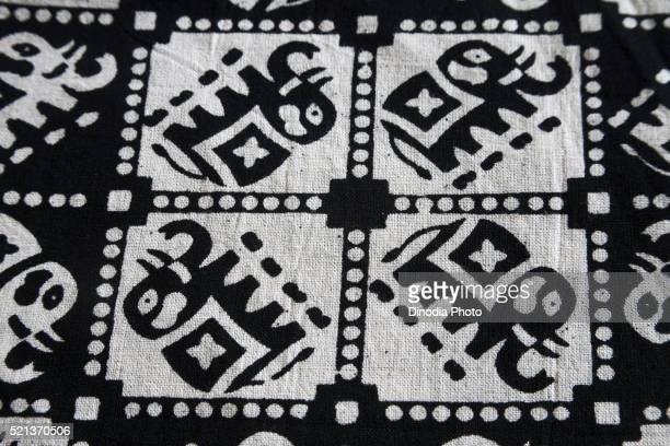 Clothes Block Printing on Cotton Fabric, kutch, Gujarat, India, Asia, May