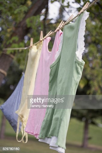 Clothes drying on clothesline : Foto stock