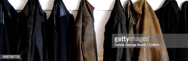 Clothes Hanging In A Row