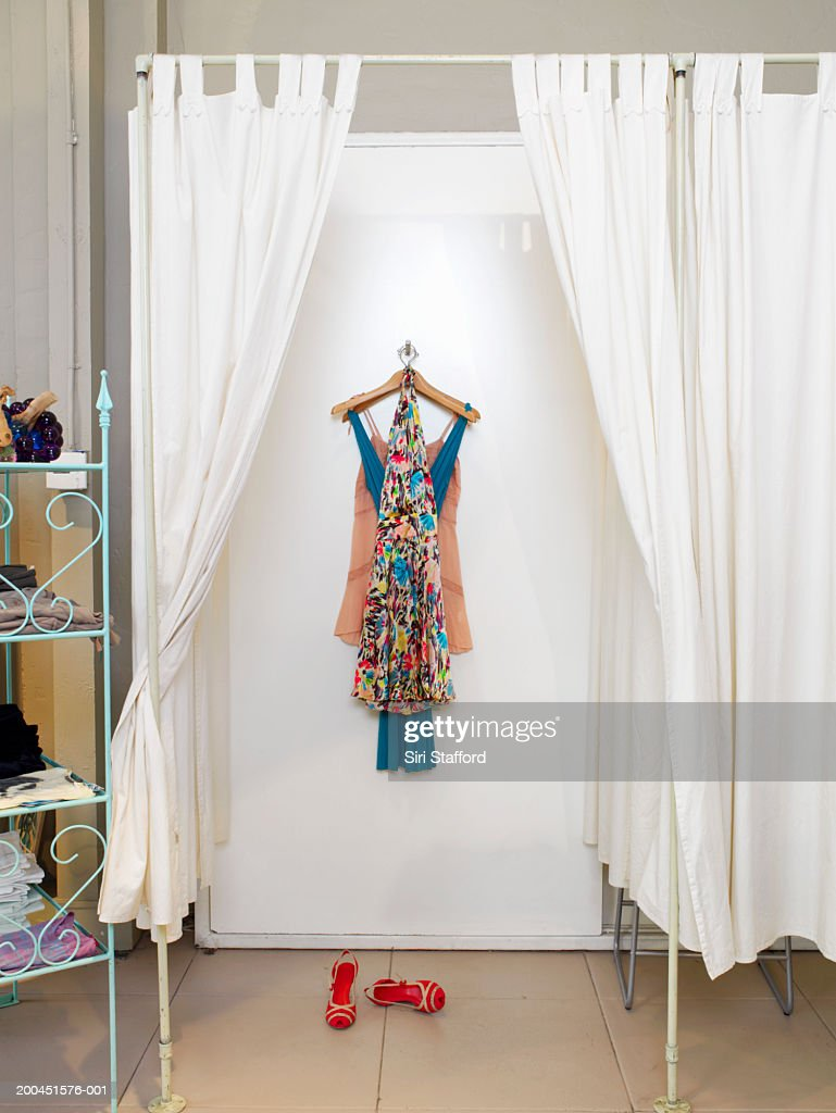 Clothes hanging in dressing room