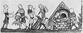 Clothes infected by the Black Death being burnt in medieval Europe circa 1340 The Black Death was thought to have been an outbreak of the bubonic...
