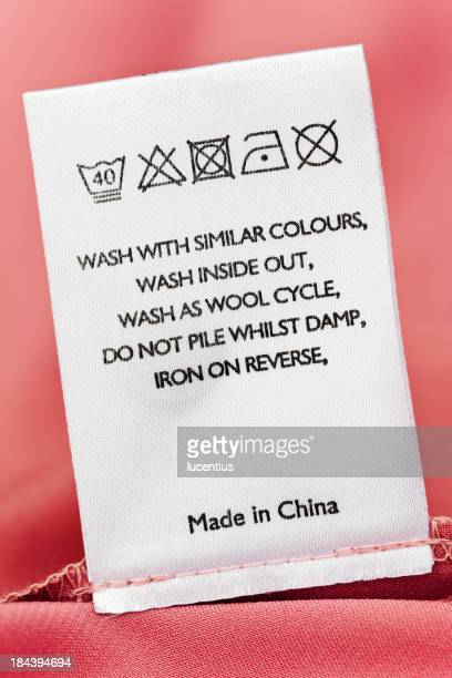 Clothes label of item made in China