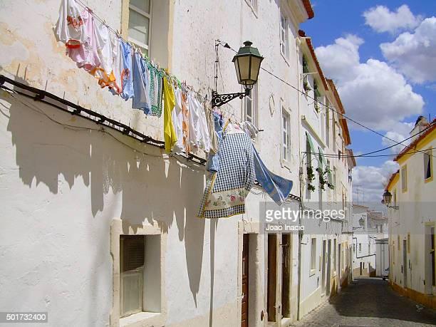 Clothes line, Evora, Portugal