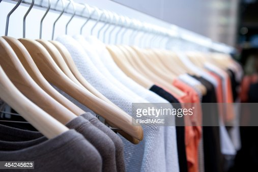 Clothes On a Rack : Stock Photo
