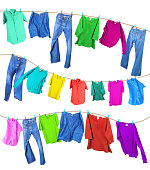 Clothes on a clothesline3.