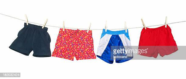 Clothesline with shorts (clipping path)
