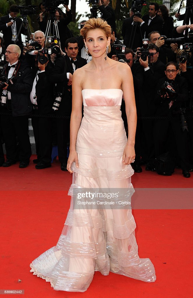 Clothilde Courau at the Premiere for 'You will meet a tall dark stranger' during the 63rd Cannes International Film Festival.