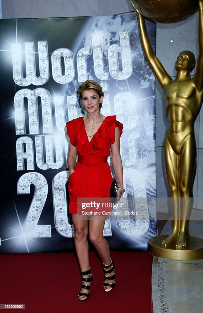 Clothilde Courau during the 'World Music Awards 2010 - show' at the Sporting Club on May 18, 2010 in Monte Carlo, Monaco.