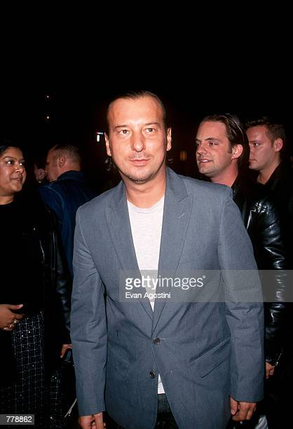 Clothing designer Helmut Lang attends the Interview Magazine 30th Anniversary Party October 28 1999 in New York City