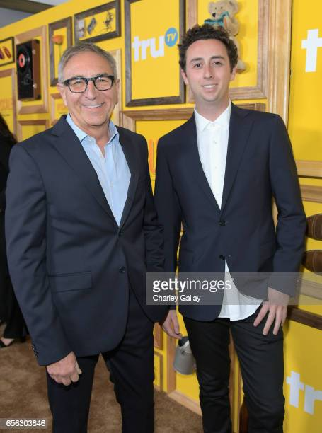 Clothing expert/tv personality Ron Robinson and Max Robinson at truTV's 'Upscale with Prentice Penny' Premiere at The London Hotel on March 21 2017...