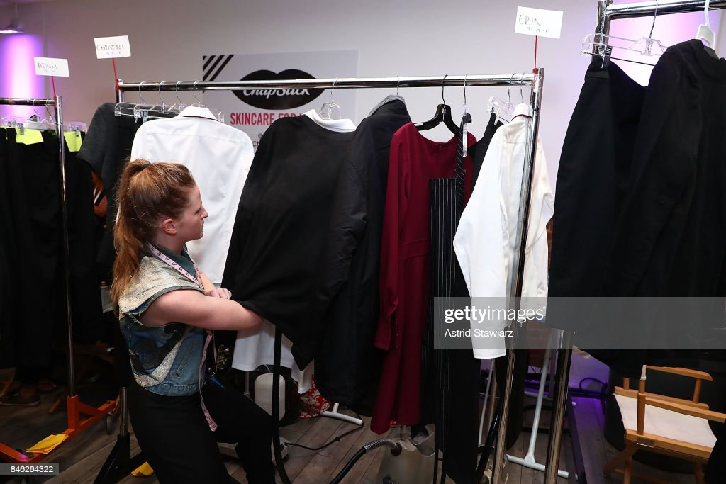 Clothing from Momentum By Timo Weiland collection is displayed during New York Fashion Week at Metropolitan West on September 12, 2017 in New York City.