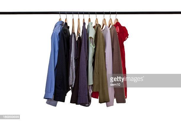 衣類に飾るレール