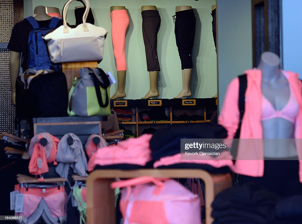 Clothing made by Lululemon Athletica Inc is on display for sale on March 19 2013 in Pasadena California Lululemon removed some of its popular pants...