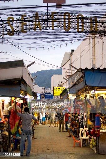 Clothing market near Patong Beach.