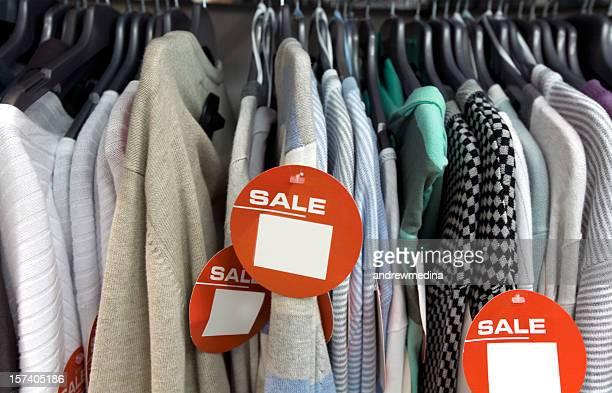 Saldi-abbigliamento Fare clic per più vuoto segni e avvisi