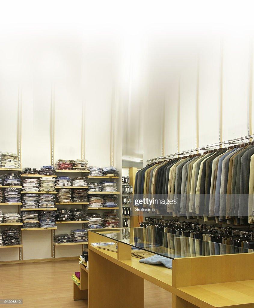 Punto vendita abbigliamento da uomo : Foto stock