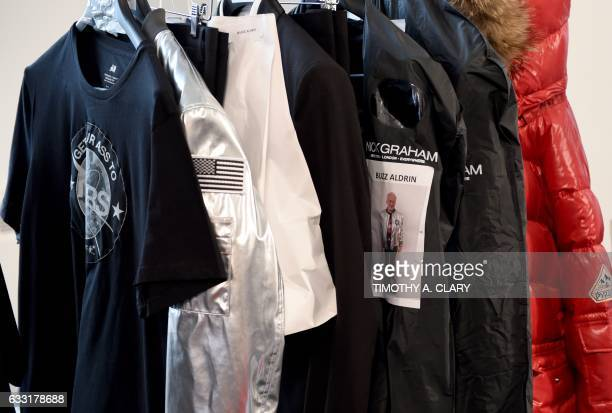 Clothing to be modeled by former NASA astronaut Buzz Aldrin lunar module pilot on Apollo 11 and second man to walk on the Moon during the Nick Graham...