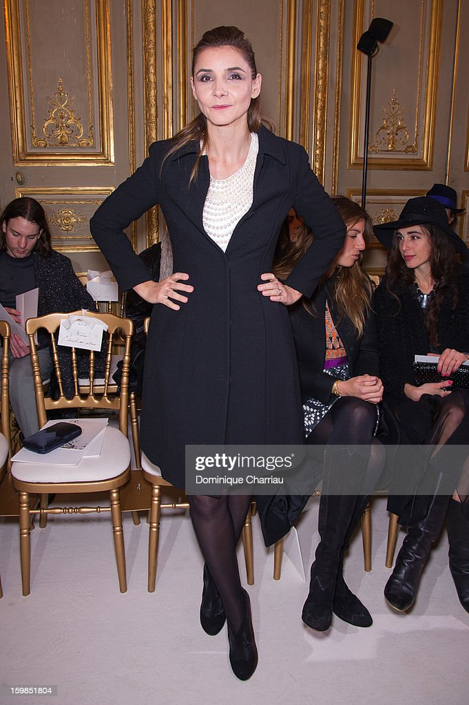 Clotiilde Courau attends the Giambattista Valli Spring/Summer 2013 Haute-Couture show as part of Paris Fashion Week at on January 21, 2013 in Paris, France.