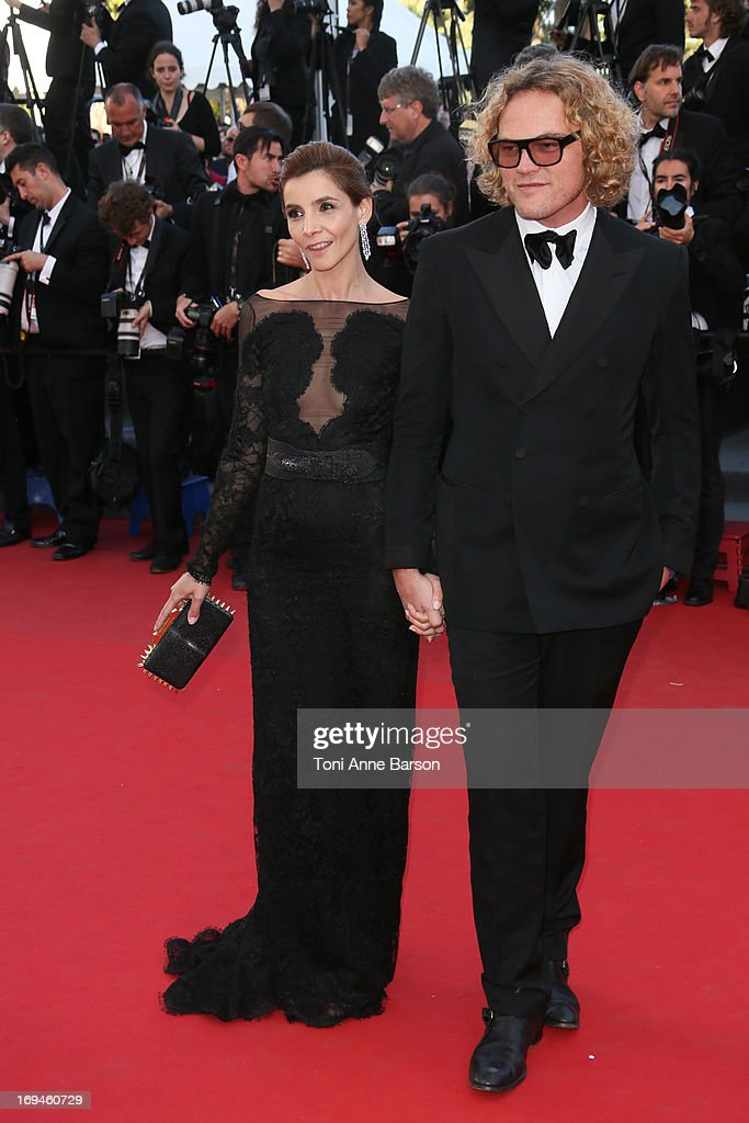 Clotilde Courau and Peter Dundas attends the premiere of 'The Immigrant' at The 66th Annual Cannes Film Festival on May 24, 2013 in Cannes, France.