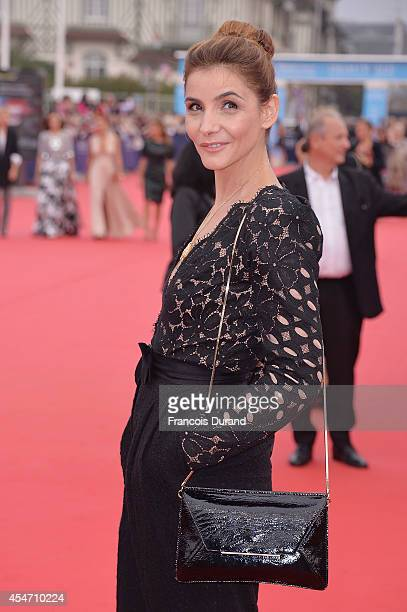 Clotilde Courau arrives at the opening ceremony of 40th Deauville American Film Festival on September 5 2014 in Deauville France