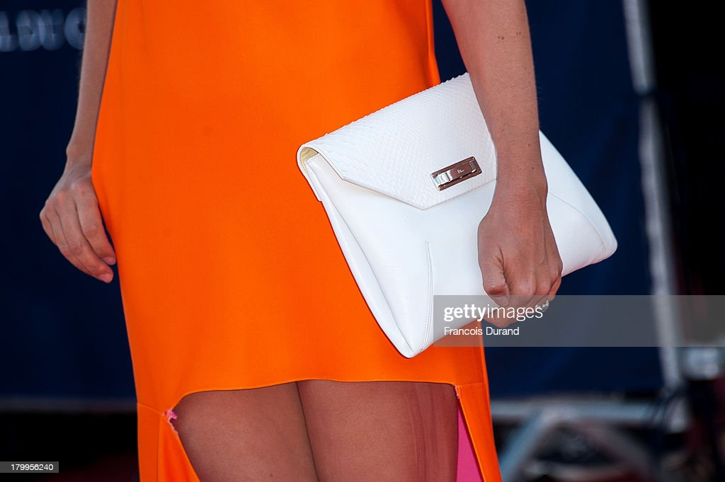 Clotilde Courau arrives at the 'Snowpierce' Premiere and closing ceremony of the 39th Deauville American Film Festival on September 7, 2013 in Deauville, France.