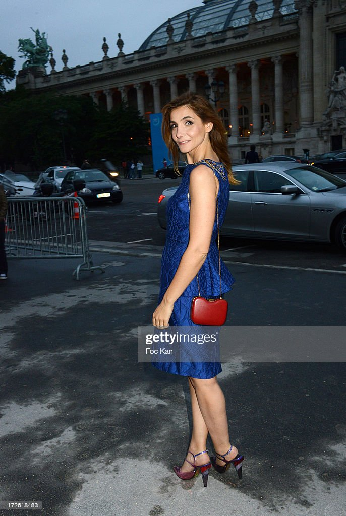 Clotilde Courau arrives at the The Glory of Water' Karl Lagerfeld's exhibition at Fendi Store After Party : Outside Arrivals At the Petit Palais on July 3 on July 3, 2013 in Paris, France.