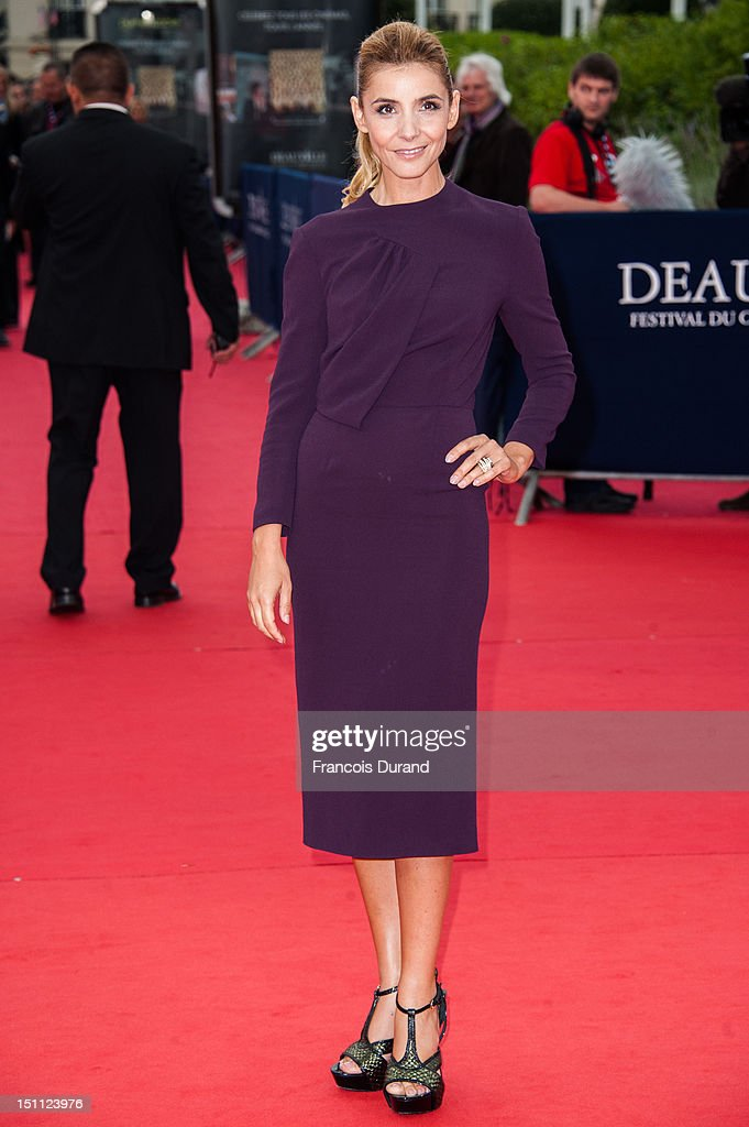 Clotilde Courau arrives for the premiere of the film 'The Bourne Legacy' during 38th Deauville American Film Festival on September 1, 2012 in Deauville, France.
