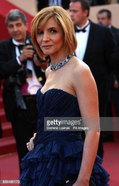 Clotilde Courau arriving for the official screening of Looking For Eric at the Palais de Festival during the 62nd Cannes Film Festival France