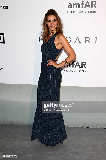 Clotilde Courau attends amfAR's 21st Cinema Against AIDS Gala Presented By WORLDVIEW BOLD FILMS And BVLGARI at Hotel du CapEdenRoc on May 22 2014 in...