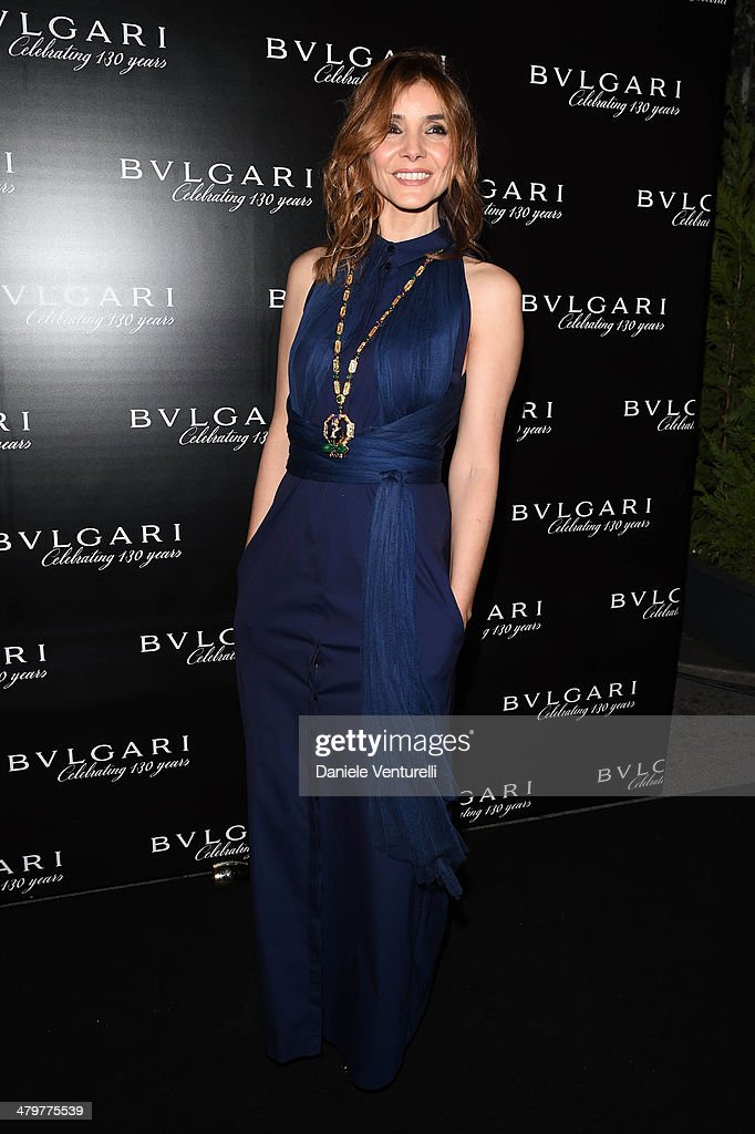 <a gi-track='captionPersonalityLinkClicked' href=/galleries/search?phrase=Clotilde+Courau&family=editorial&specificpeople=171279 ng-click='$event.stopPropagation()'>Clotilde Courau</a> attends 'Bvlgari Celebrates 130 Years In Rome' at Via Condotti on March 20, 2014 in Rome, Italy.