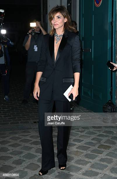 Clotilde Courau attends Givenchy fashion show at the Lycee Carnot as part of the Paris Fashion Week Womenswear Spring/Summer 2015 on September 28...