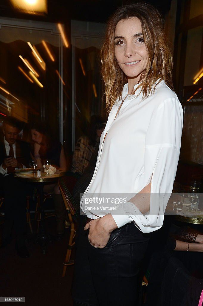 Clotilde Courau attends the Bulgari And Purple Magazine Party at Cafe de Flore on March 3, 2013 in Paris, France.